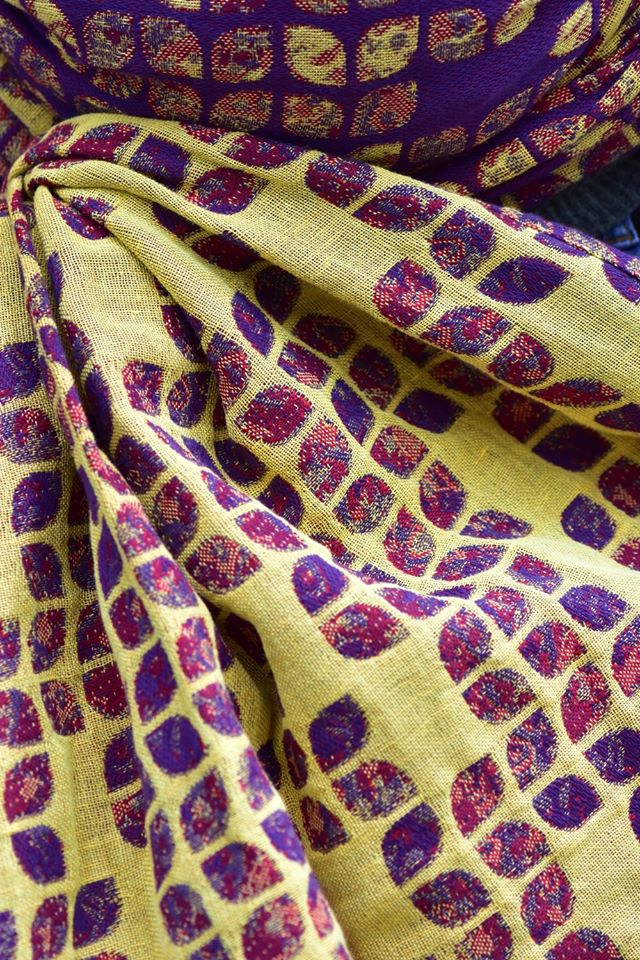 Yaro Slings Petals Ultra Yellow Red Violet Wool Linen Wrap (wool, linen) Image