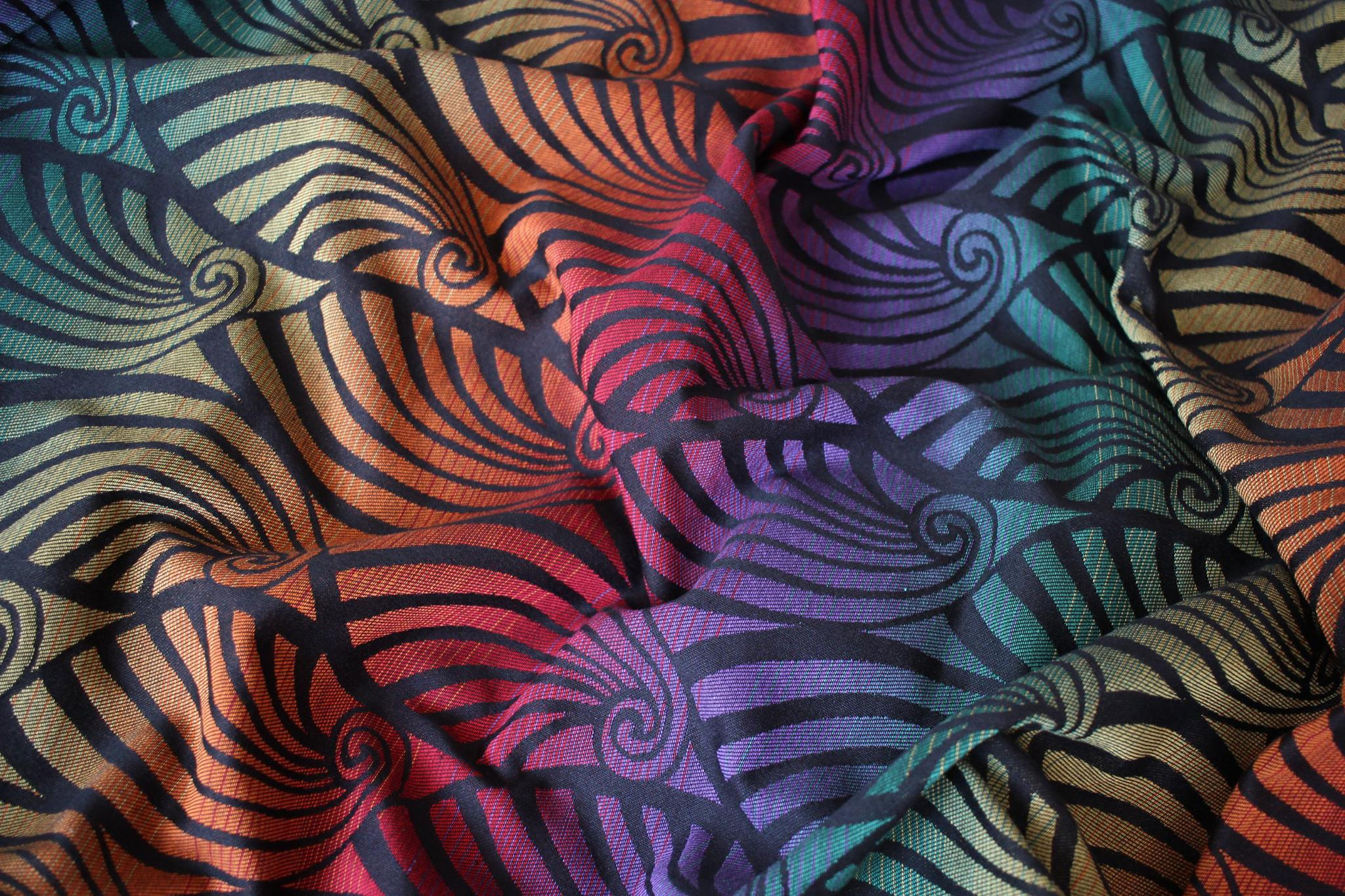 Yaro Slings Dandy Black Autumn Rainbow Wrap  Image