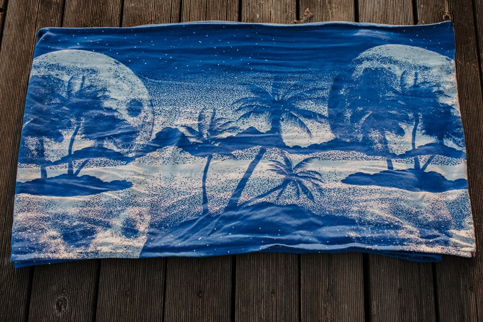Lolly Wovens PARADISE BLUE MOON  Wrap  Image