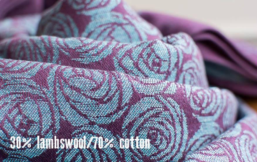 Oscha Roses Capulet Wrap Lambs Wool