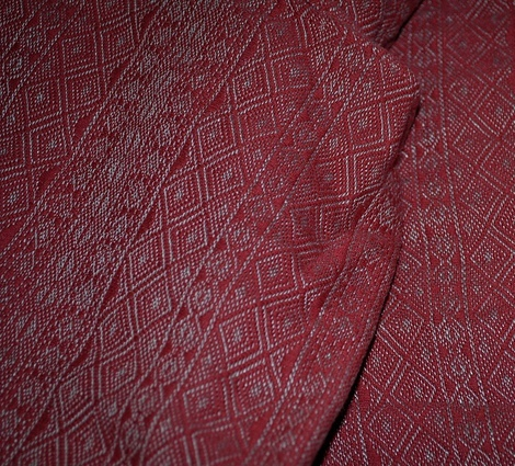 Didymos Indio Rot-Marmor (red marble) (lin...