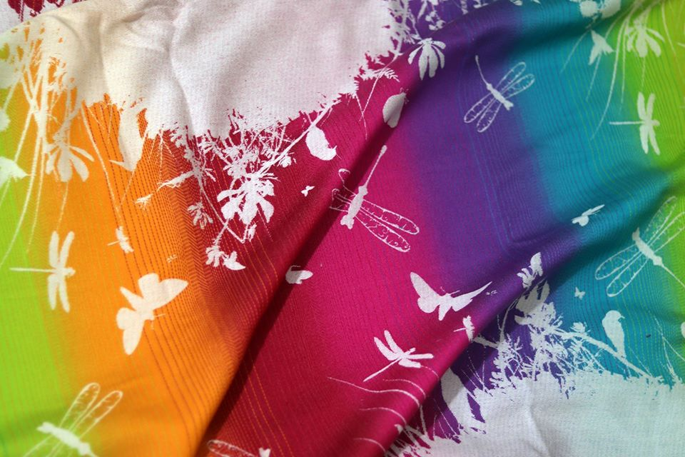 Lolly Wovens MEADOW LOVE OF RAINBOW Wrap  Image