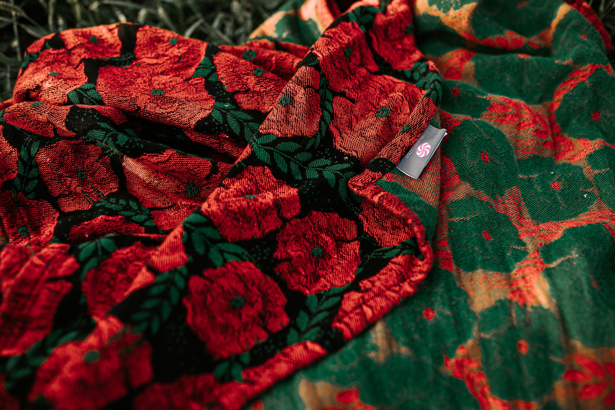 Lolly Wovens POPPIES RED MEADOW Wrap  Image