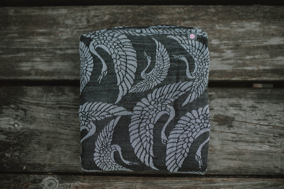 Lolly Wovens HERON BLACK POWDER  Wrap  Image