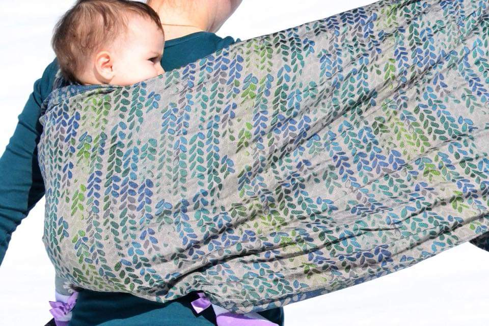 Woven Wings Stockinette Call of the Forest Wrap (linen, merino, silk) Image