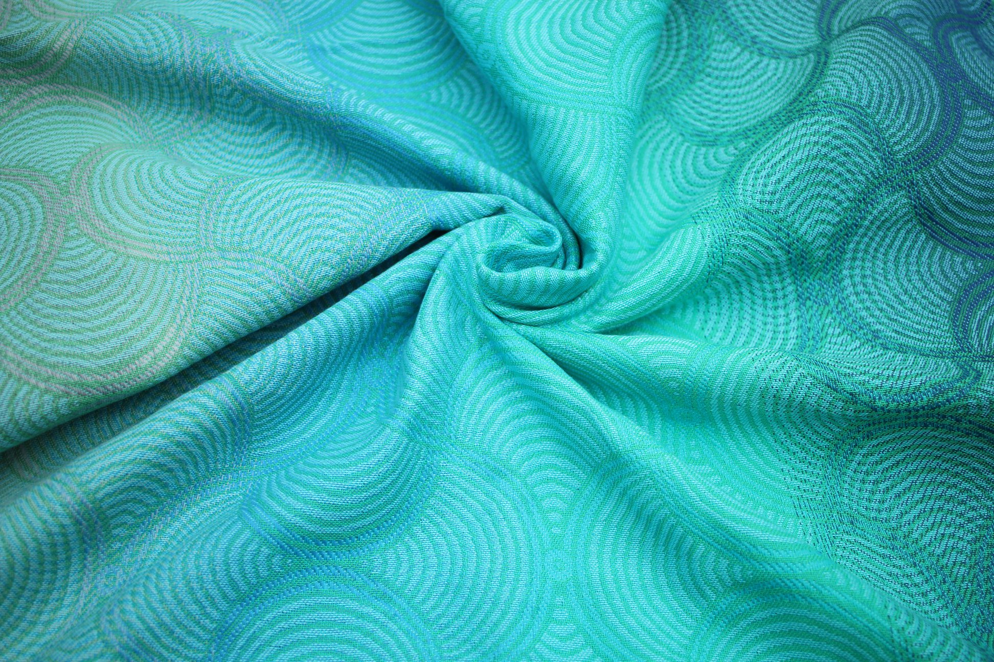 Yaro Slings Gravity Duo Aqua Grad Blue Green Seacell Wrap