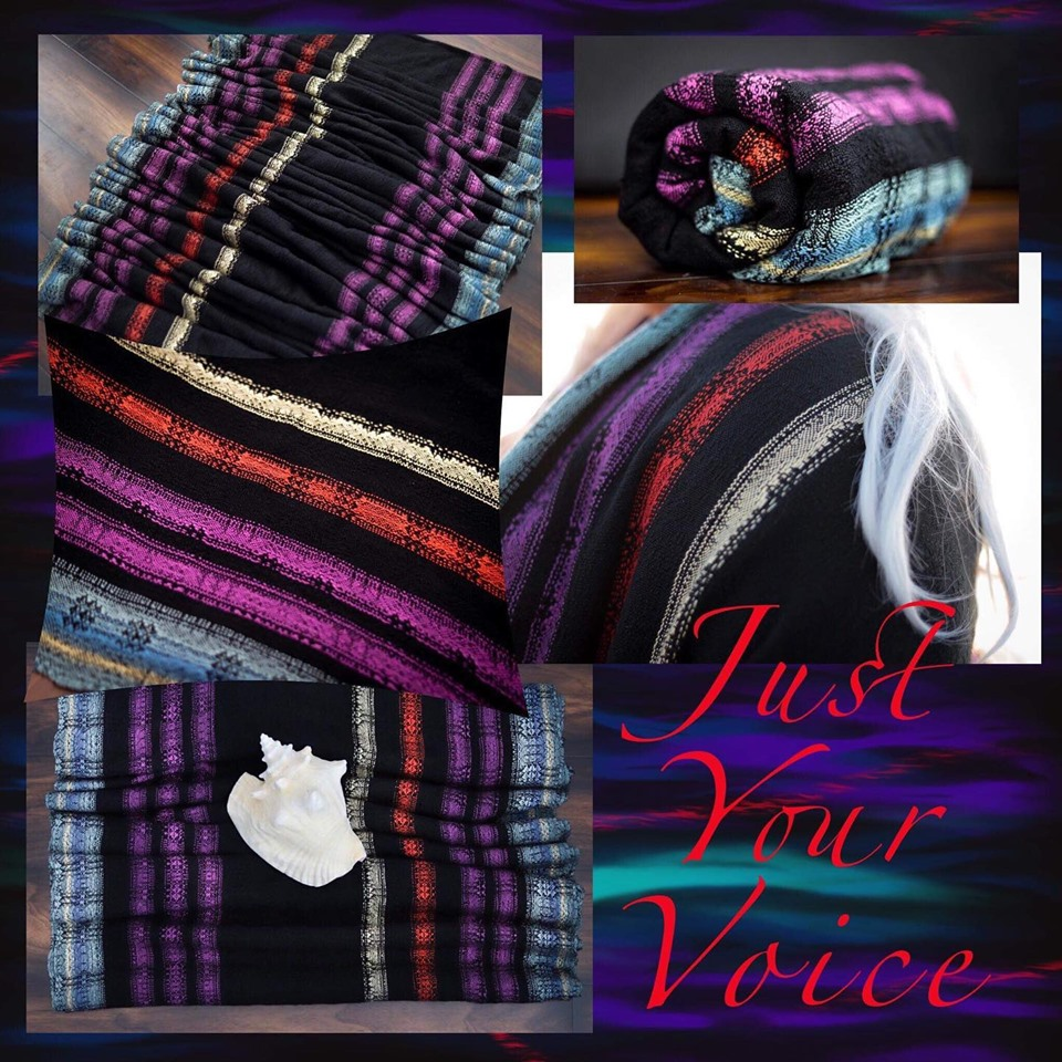 Tragetuch Pretty Paisley Production stripe Just Your Voice (tencel) Image