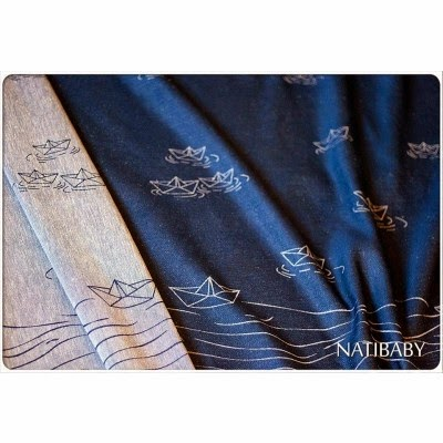 Natibaby Wrapped Messages Indigo/White Wrap (hemp) Image