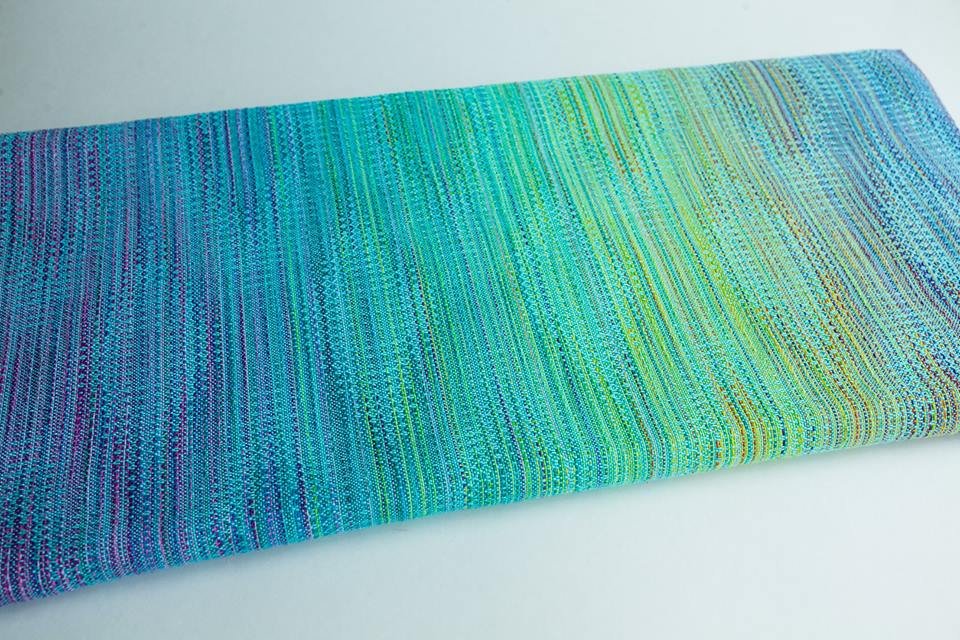 Rainbow cloud crackle weave Julia Wrap (bamboo) Image
