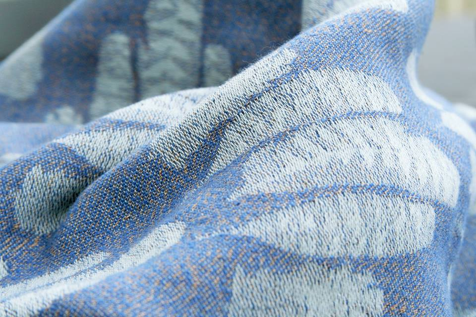 Sling Studio Falling Feathers Salcombe Wrap (cashmere, linen) Image